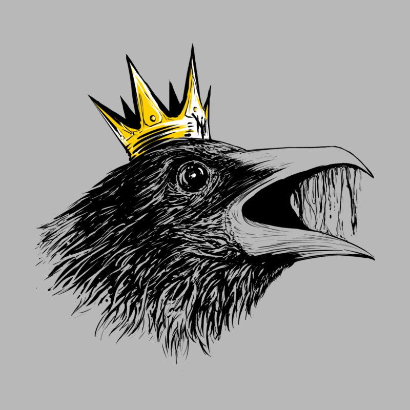 king of crows Men's T-Shirt by martinskowsky