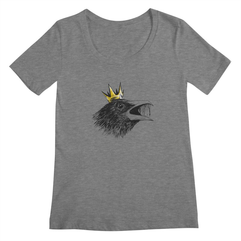 king of crows Women's Regular Scoop Neck by martinskowsky