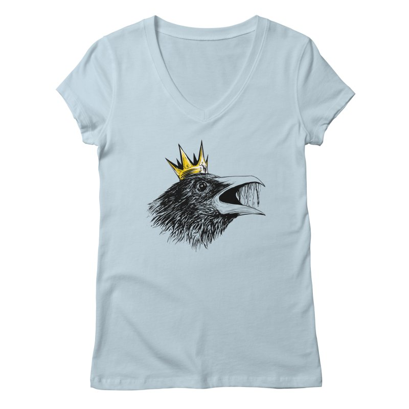 king of crows Women's V-Neck by martinskowsky