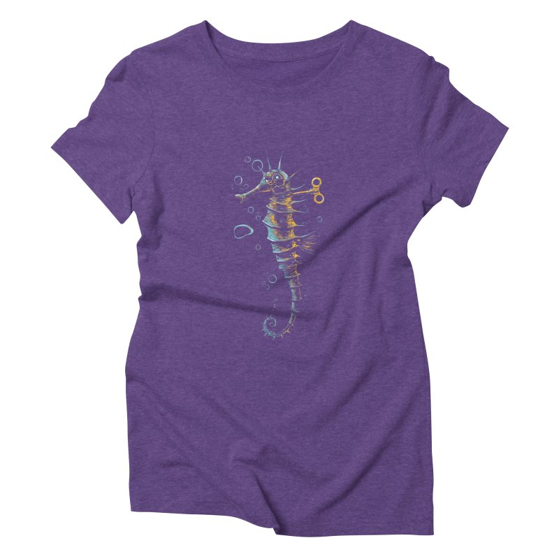 mechanical seahorse Women's Triblend T-shirt by martinskowsky