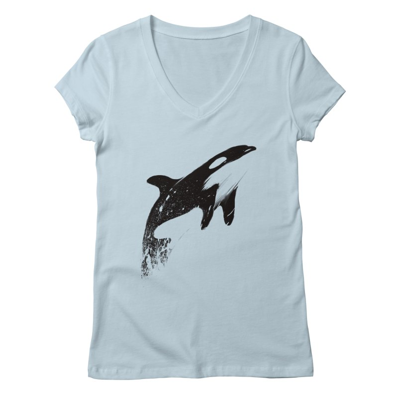 orcas can fly Women's V-Neck by martinskowsky