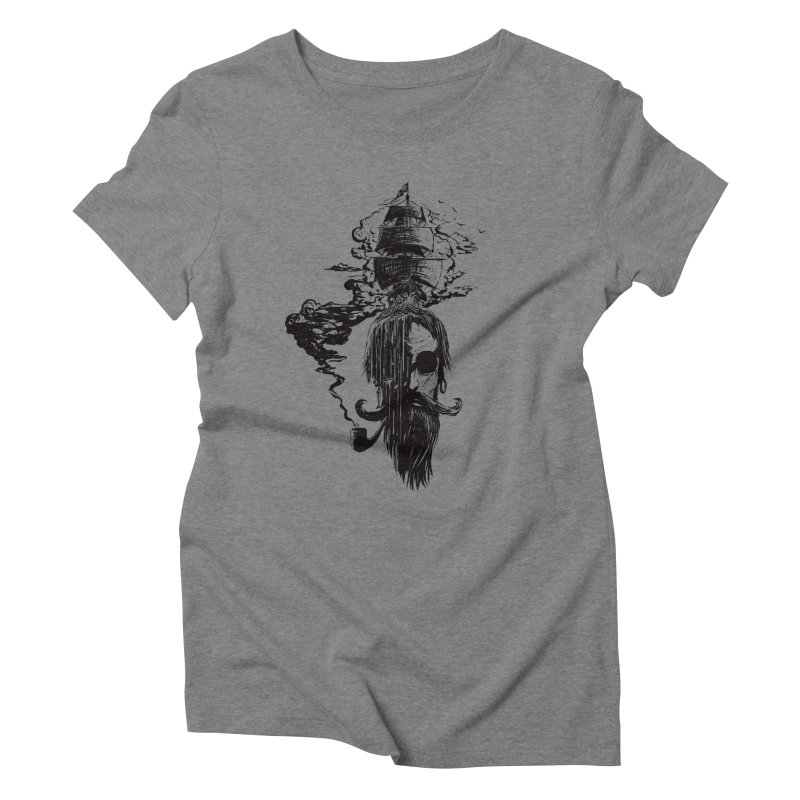captain's dreams Women's Triblend T-Shirt by martinskowsky