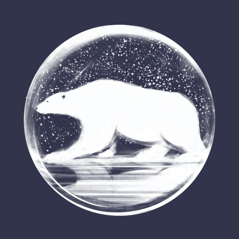 bear in a sphere Kids T-Shirt by martinskowsky