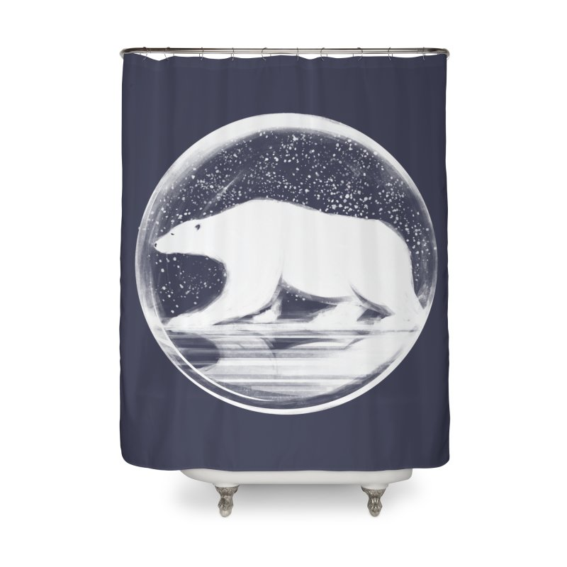 bear in a sphere Home Shower Curtain by martinskowsky