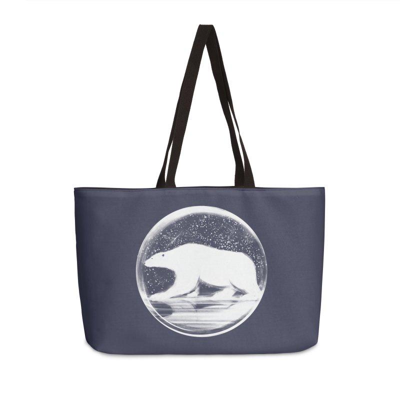 bear in a sphere Accessories Weekender Bag Bag by martinskowsky