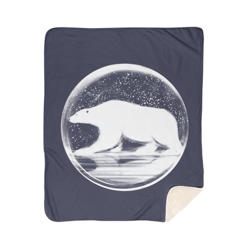 bear in a sphere Home Sherpa Blanket Blanket by martinskowsky