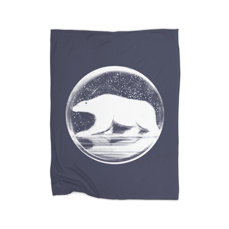 bear in a sphere Home Fleece Blanket Blanket by martinskowsky