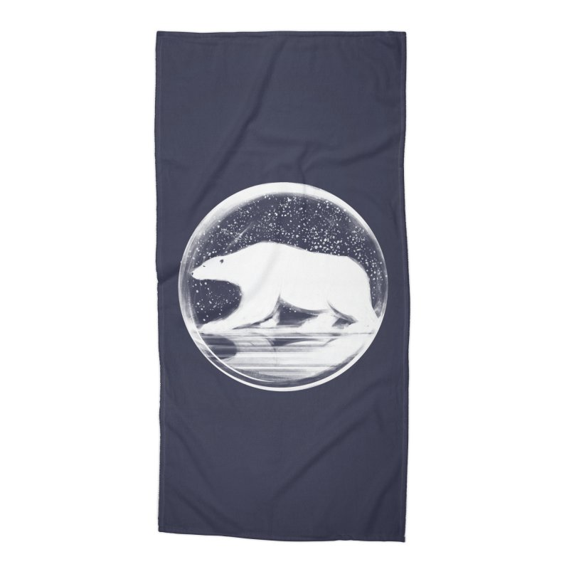 bear in a sphere Accessories Beach Towel by martinskowsky