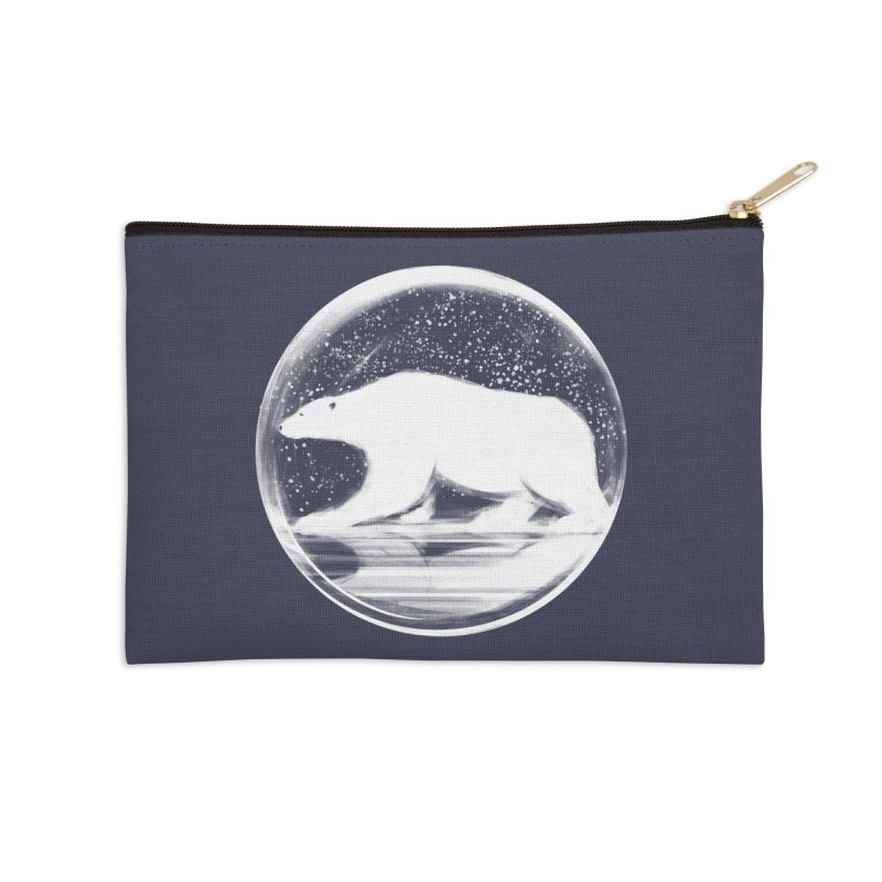 bear in a sphere Accessories Zip Pouch by martinskowsky