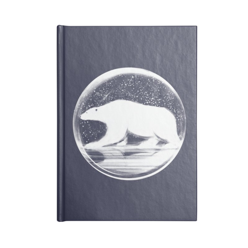 bear in a sphere Accessories Lined Journal Notebook by martinskowsky