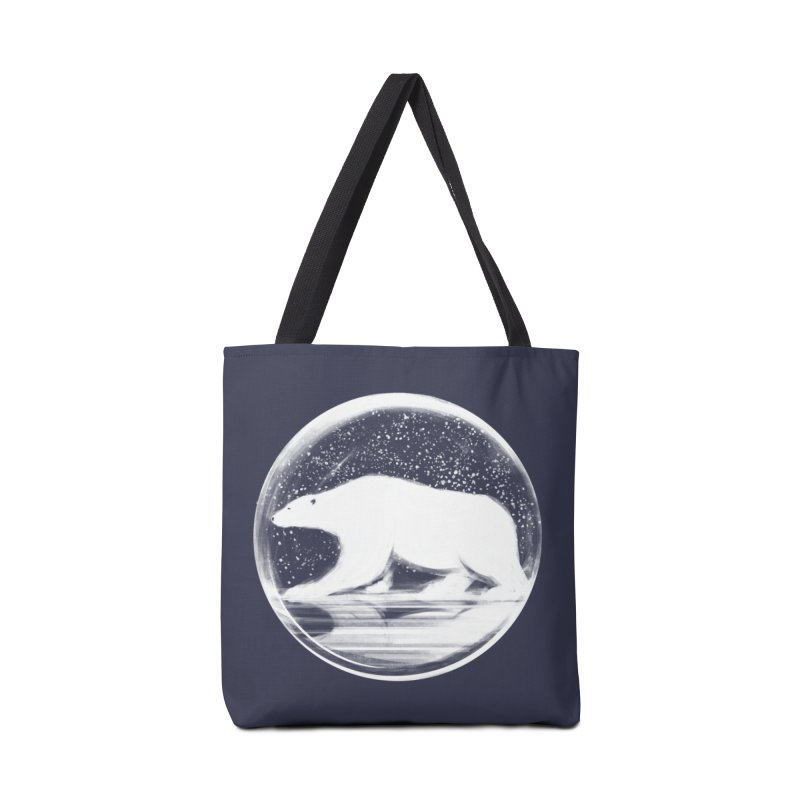 bear in a sphere Accessories Bag by martinskowsky