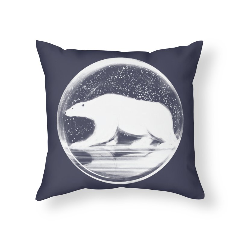 bear in a sphere Home Throw Pillow by martinskowsky