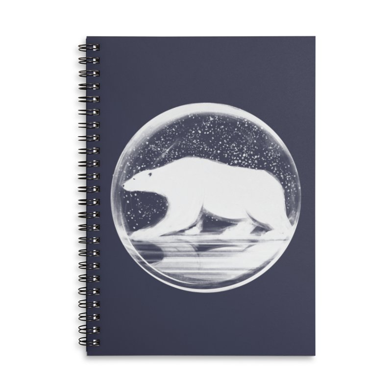 bear in a sphere Accessories Lined Spiral Notebook by martinskowsky