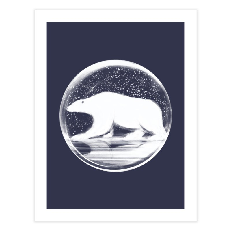 bear in a sphere Home Fine Art Print by martinskowsky