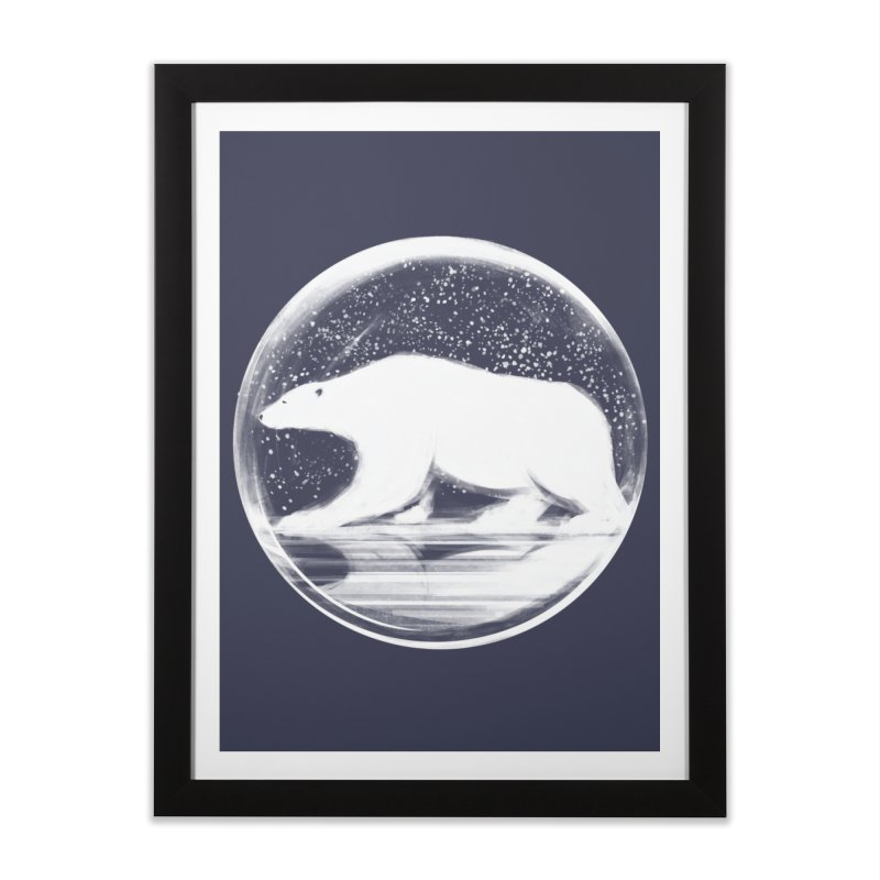 bear in a sphere Home Framed Fine Art Print by martinskowsky