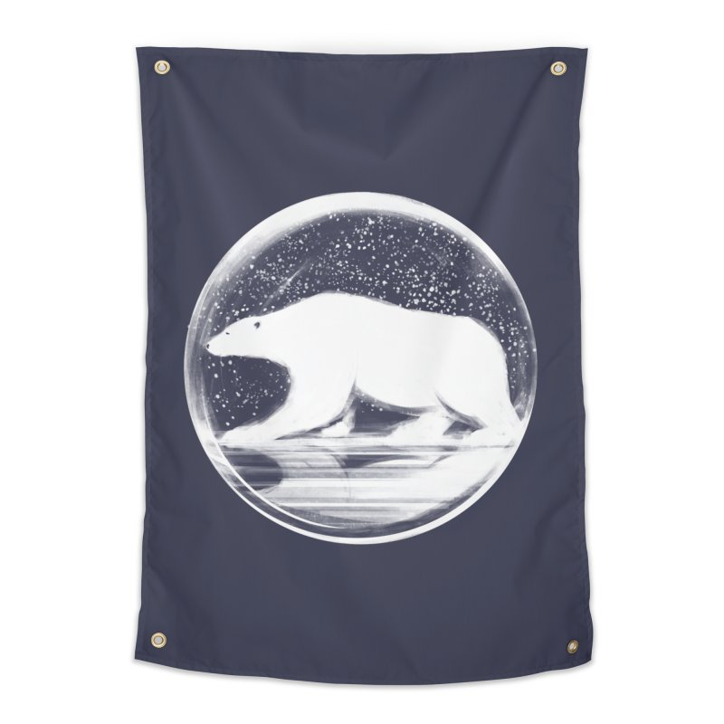 bear in a sphere Home Tapestry by martinskowsky