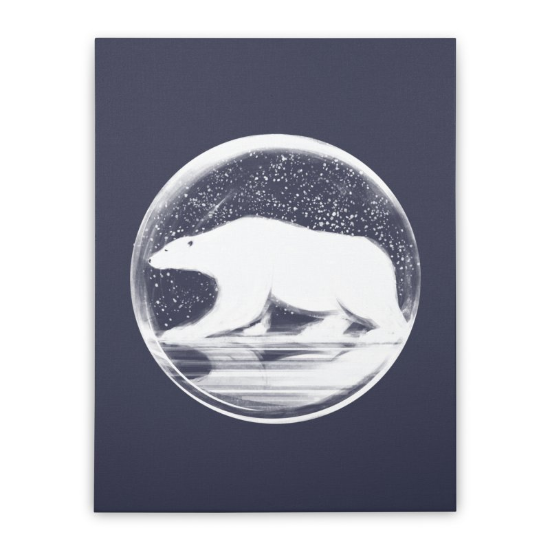 bear in a sphere Home Stretched Canvas by martinskowsky