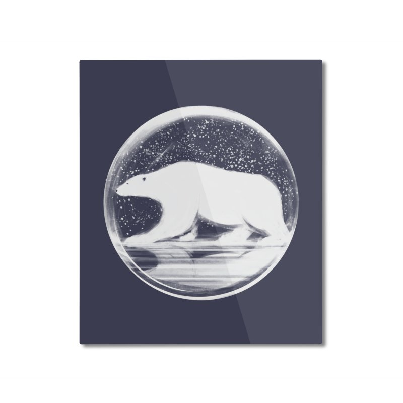 bear in a sphere Home Mounted Aluminum Print by martinskowsky