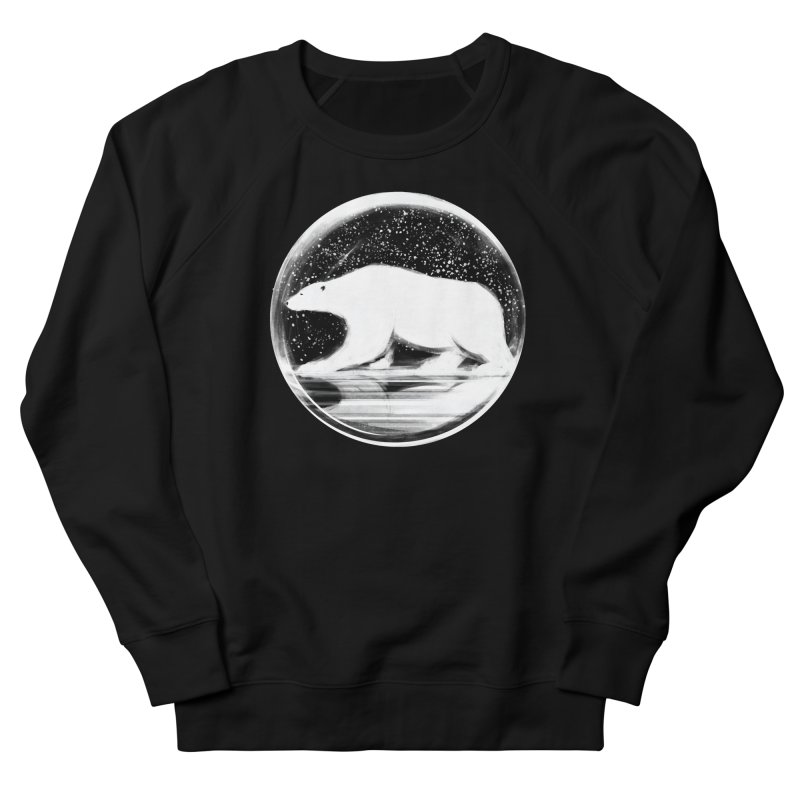 bear in a sphere Women's French Terry Sweatshirt by martinskowsky