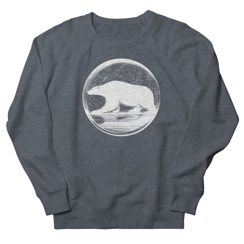 bear in a sphere Men's French Terry Sweatshirt by martinskowsky