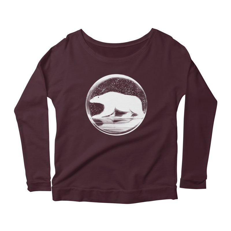 bear in a sphere Women's Scoop Neck Longsleeve T-Shirt by martinskowsky