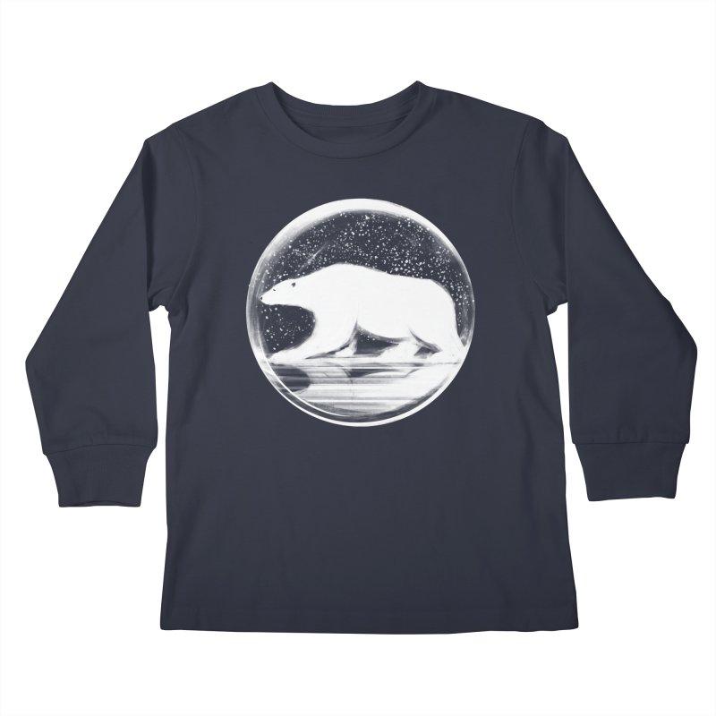 bear in a sphere Kids Longsleeve T-Shirt by martinskowsky