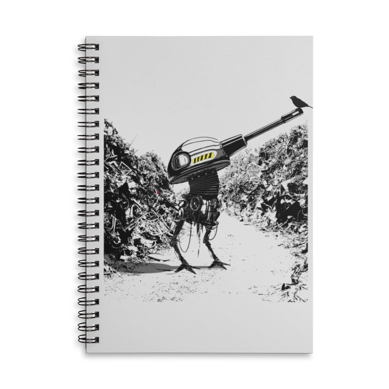 Junkyard friends Accessories Lined Spiral Notebook by martinskowsky