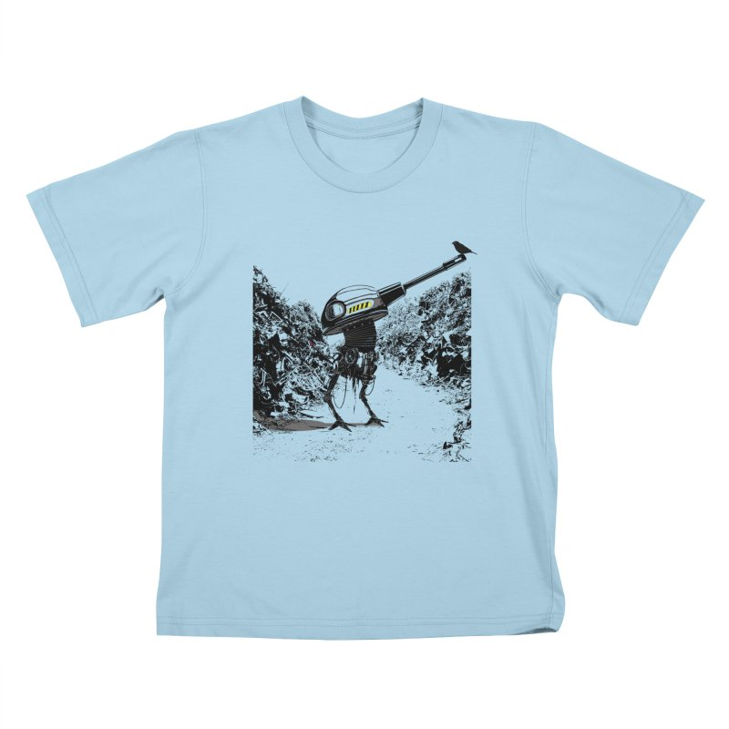 Junkyard friends Kids T-Shirt by martinskowsky