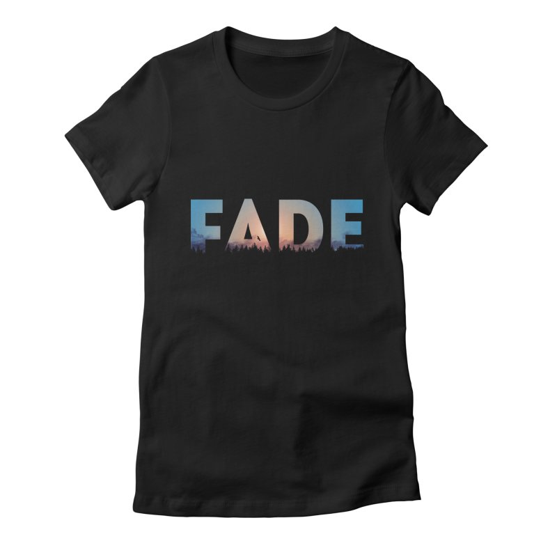 fade Women's Fitted T-Shirt by martinskowsky