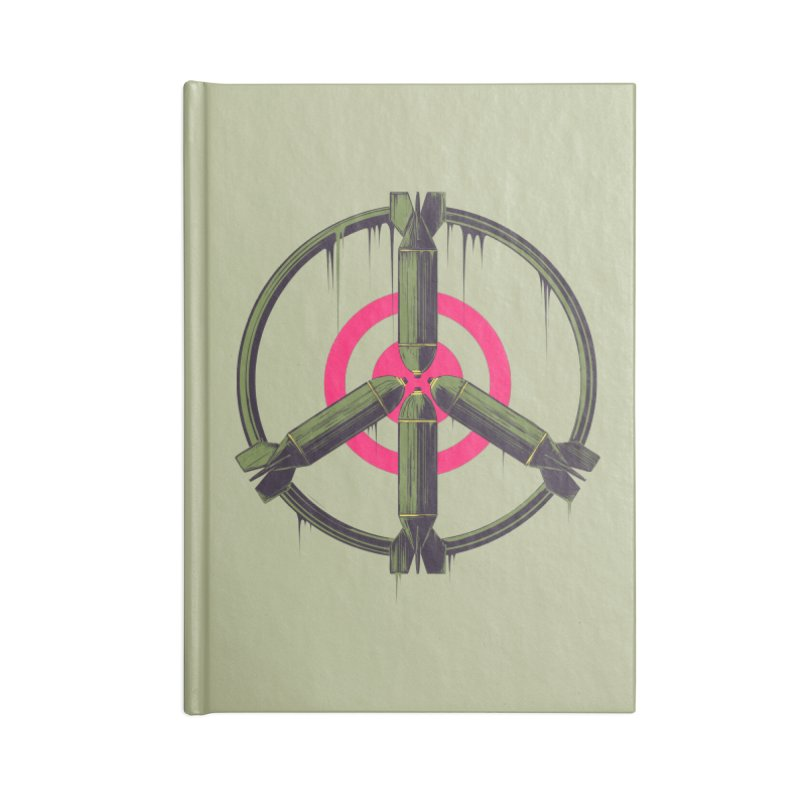 war is peace Accessories Lined Journal Notebook by martinskowsky