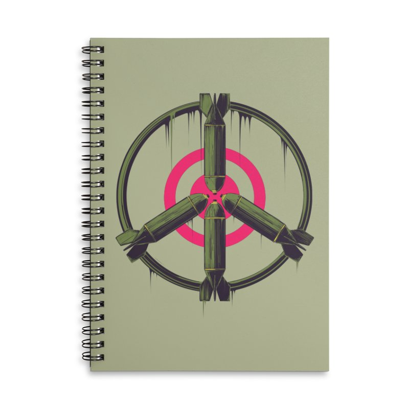 war is peace Accessories Lined Spiral Notebook by martinskowsky