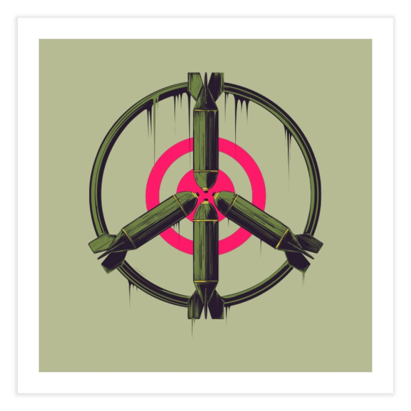 war is peace Home Fine Art Print by martinskowsky