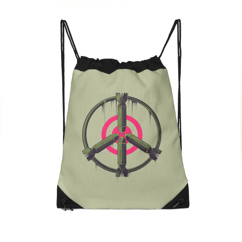 war is peace Accessories Drawstring Bag Bag by martinskowsky