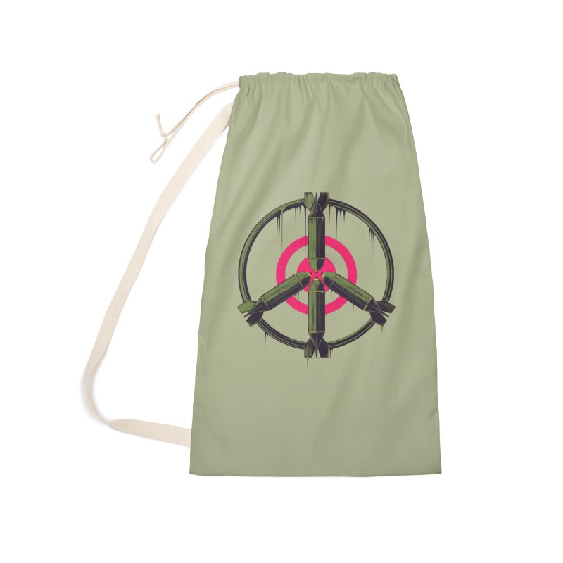 war is peace Accessories Laundry Bag Bag by martinskowsky