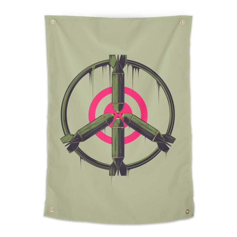 war is peace Home Tapestry by martinskowsky