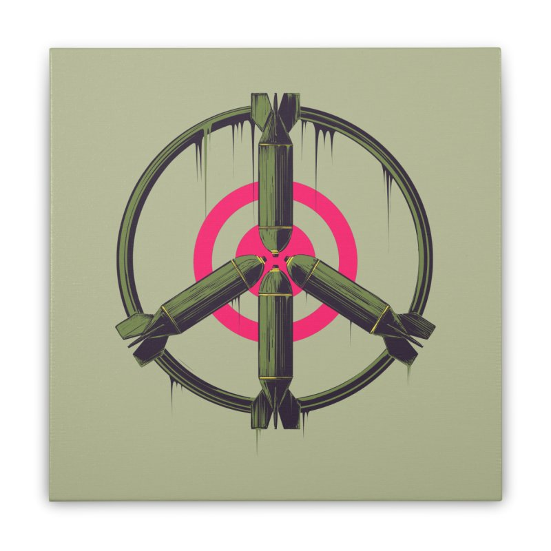 war is peace Home Stretched Canvas by martinskowsky