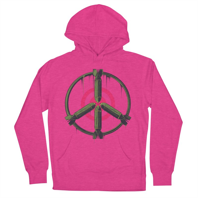 war is peace Women's French Terry Pullover Hoody by martinskowsky