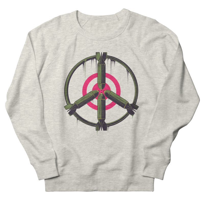 war is peace Women's French Terry Sweatshirt by martinskowsky