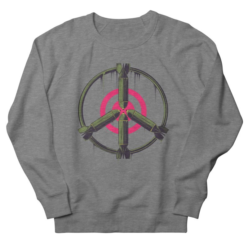 war is peace Men's French Terry Sweatshirt by martinskowsky