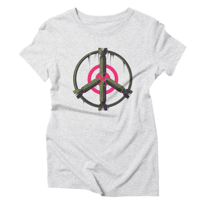 war is peace Women's Triblend T-Shirt by martinskowsky