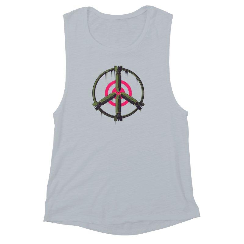 war is peace Women's Muscle Tank by martinskowsky