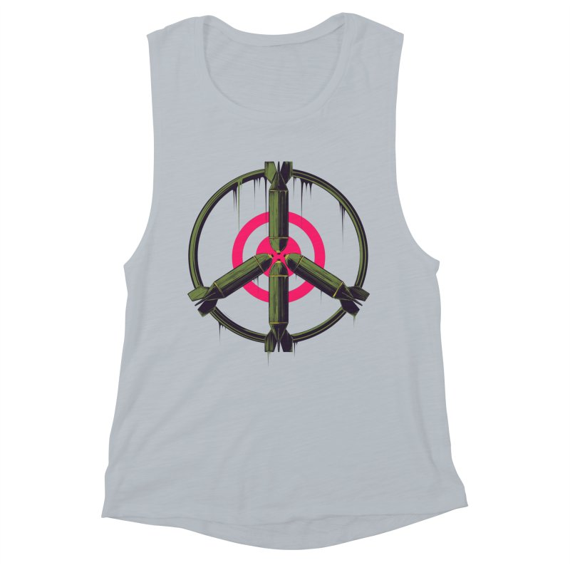 war is peace Women's Muscle Tank by martinskowsky