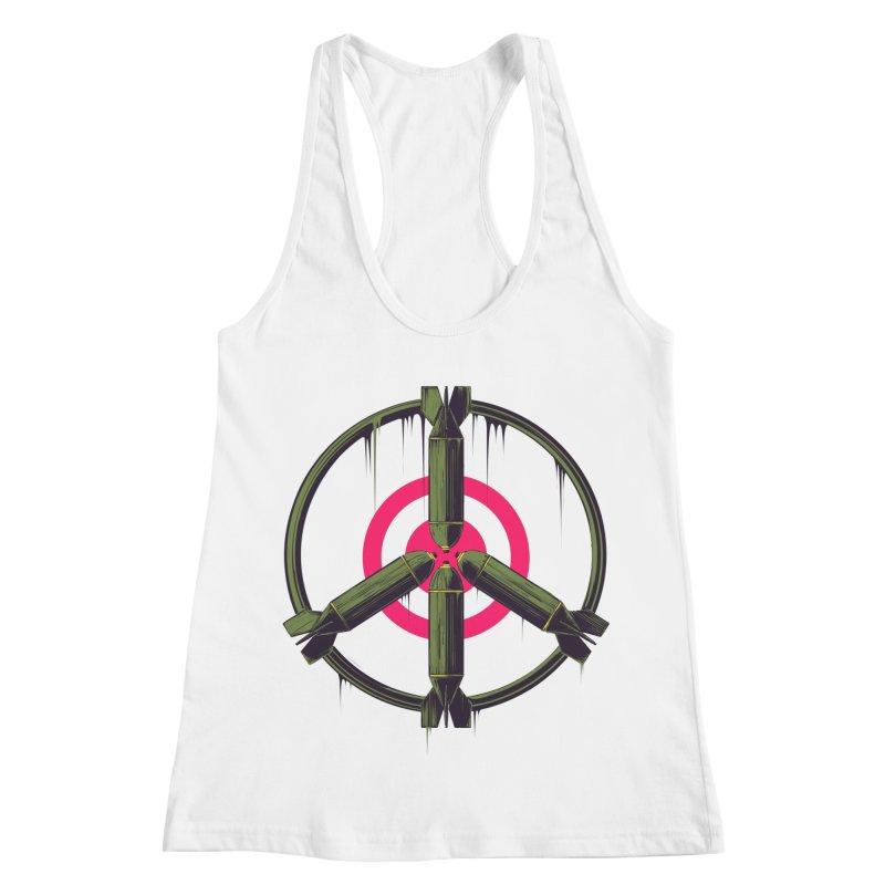 war is peace Women's Racerback Tank by martinskowsky