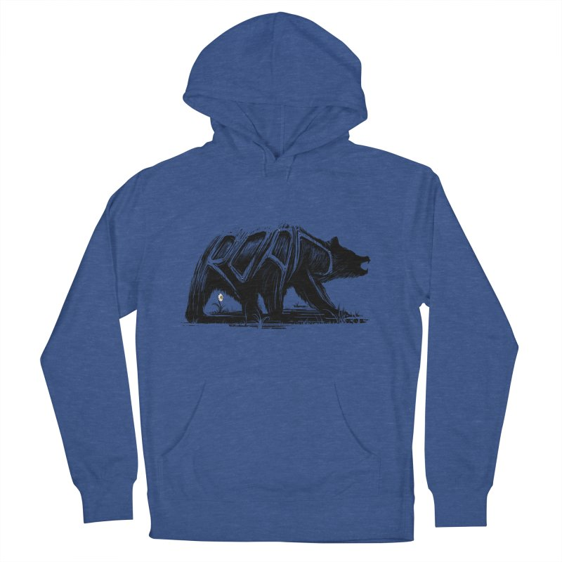 bear says: Men's Pullover Hoody by martinskowsky