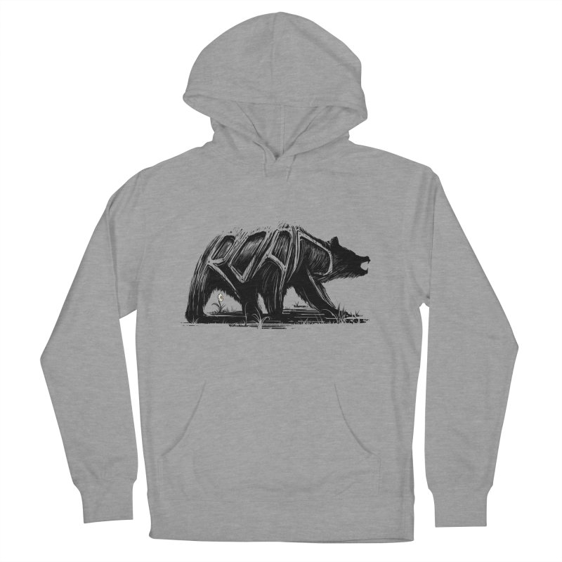 bear says: Men's French Terry Pullover Hoody by martinskowsky