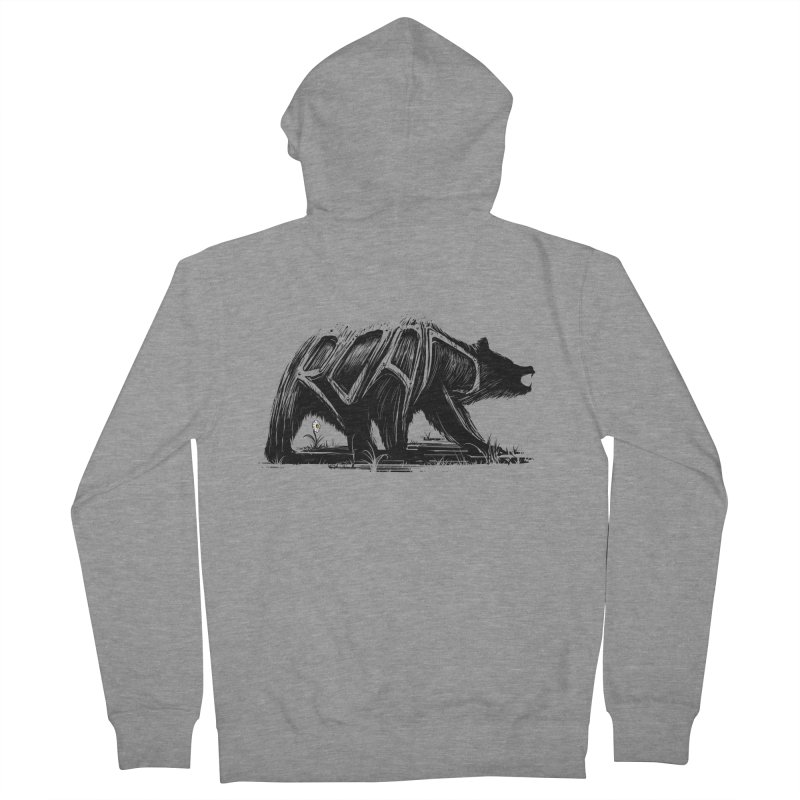 bear says: Men's French Terry Zip-Up Hoody by martinskowsky