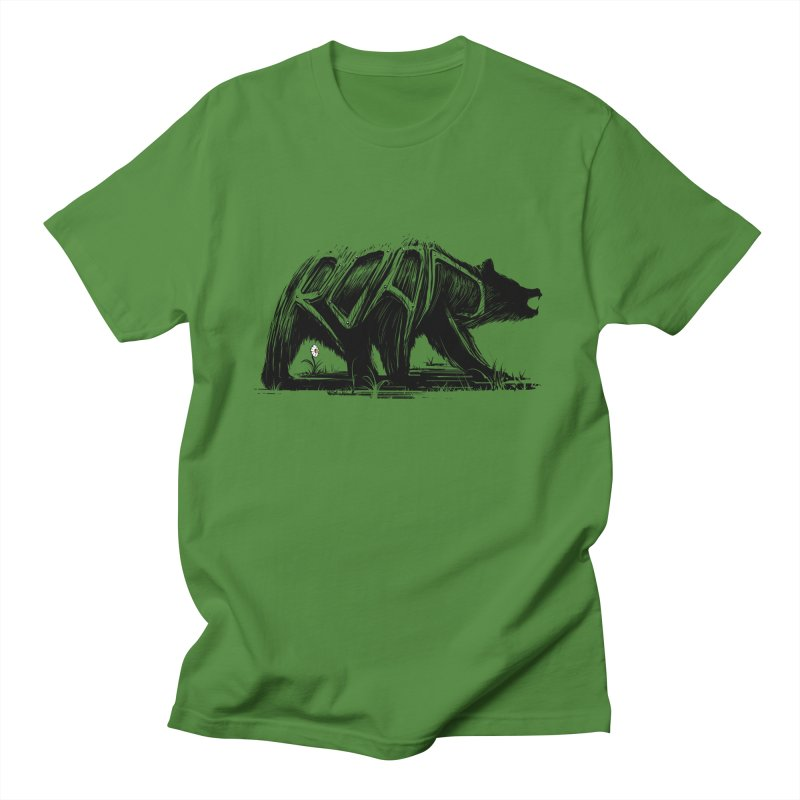 bear says: Men's T-shirt by martinskowsky