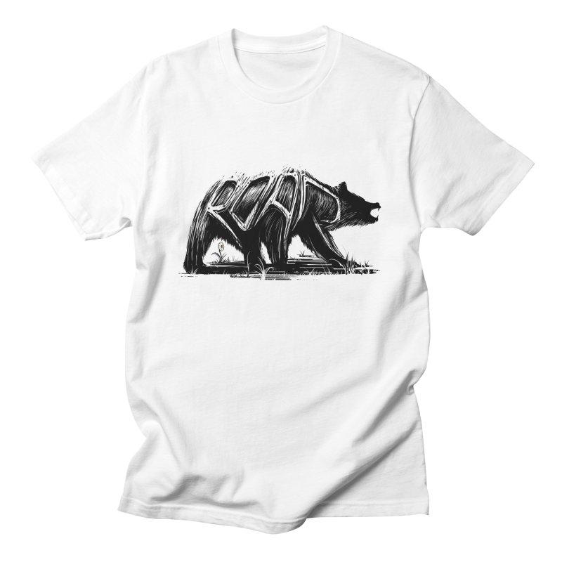 bear says: Men's T-shirt by martinskowsky