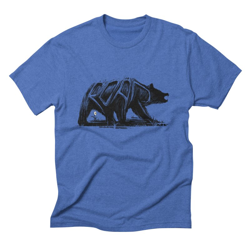 bear says: Men's Triblend T-Shirt by martinskowsky