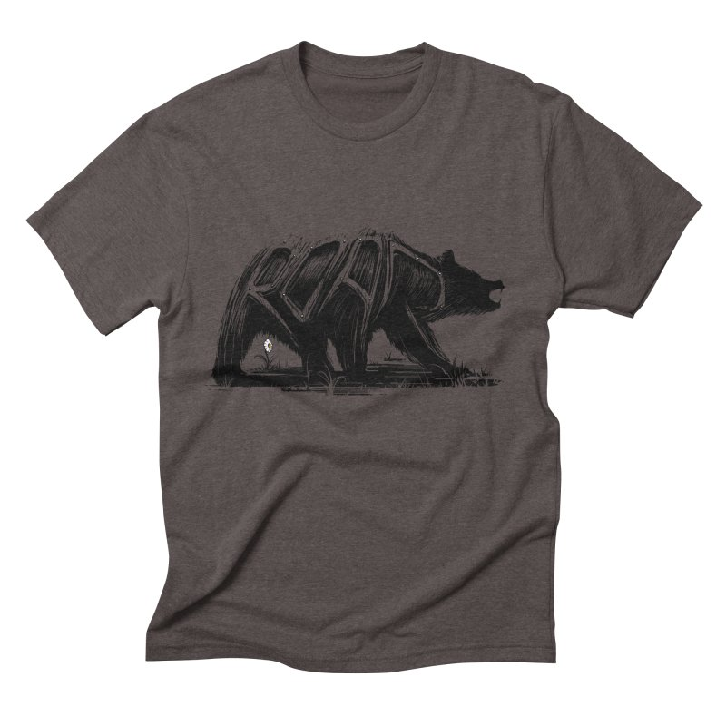 bear says: Men's Triblend T-shirt by martinskowsky